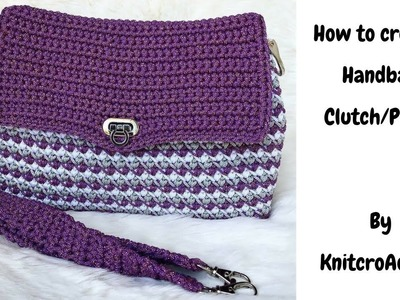How to crochet:Hand bag clutch.purse combo - Part 2