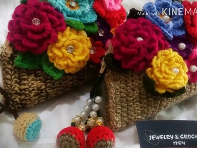 How To Crochet Round Hand Clutch( part 3)