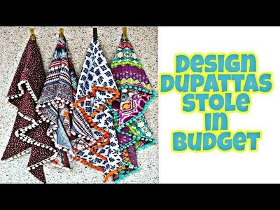 How to design dupatta. stole.chunni  in budget [DIY]