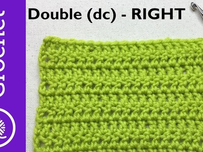 How to Double Crochet - Beginner Crochet Lesson 3 - Right Handed (CC)
