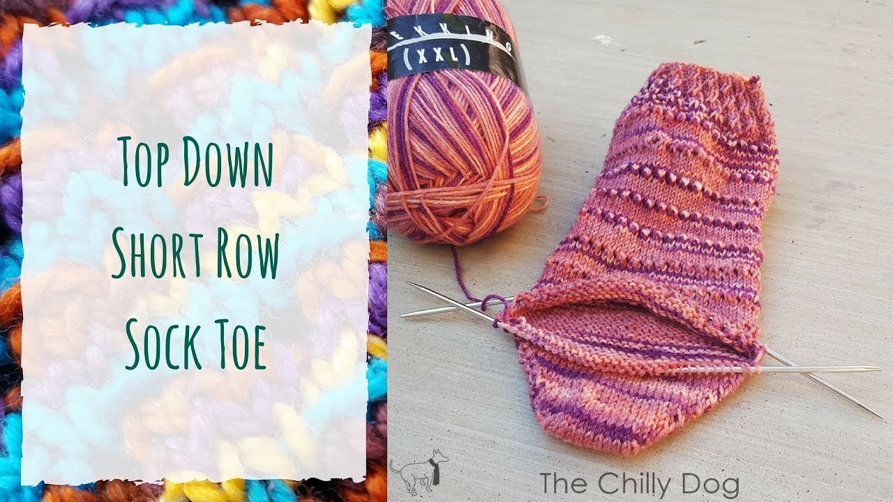 How to Knit a Short Row Sock Toe from the Top Down