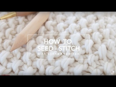 How to knit the seed stitch pattern