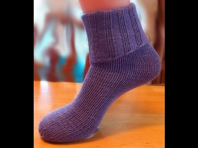 How to Loom Knit Tube Socks