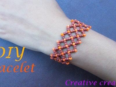 How to make a beautiful seed beaded bracelet