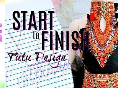 How to make an Ankara Fabric Tutu Top