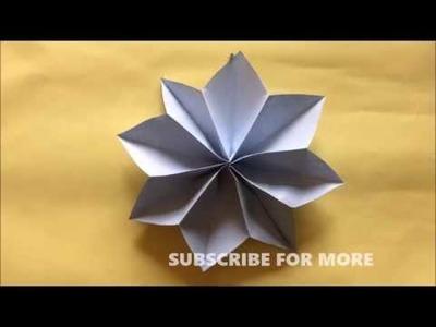 HOW TO MAKE Easy Paper Flowers | Flower Making | DIY STAR FLOWER