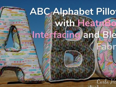 How To Make Fabric Bias Strips for Alphabet Pillows