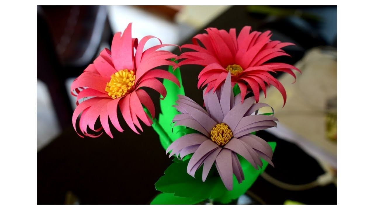 How To Make Flower With Paper How To Make Flowers