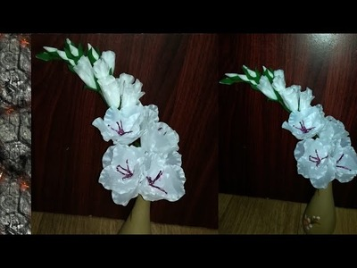 How To Make Flowers From Plastic Carry Bag. Flowers From Plastic Cover.Malayalam craft