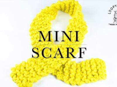 How to make Loopy Mango Mini Scarf