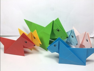 How to make origami paper dog  Origami Paper Folding Craft, Videos & Tutorials 2018