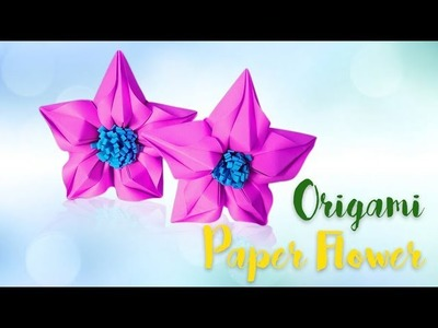 How To Make Origami Paper Flowers | DIY Craft Tutorial