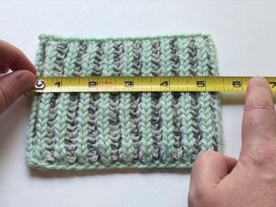 How To: Measure Gauge Over Even Brioche