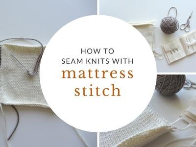 How to Seam Knits with Mattress Stitch