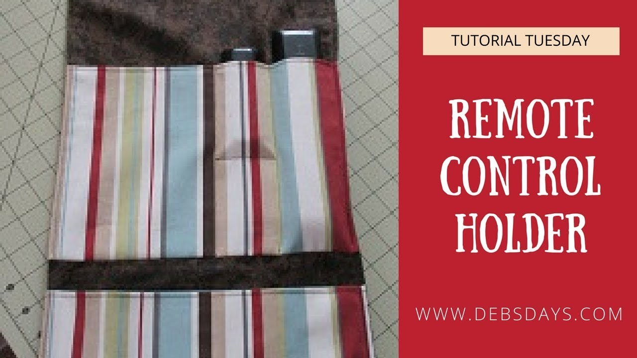 How to Sew a Fabric Remote Control Holder - Quick and Easy DIY Project