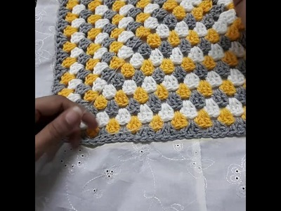 How to stitch fabric back with crochet cushion