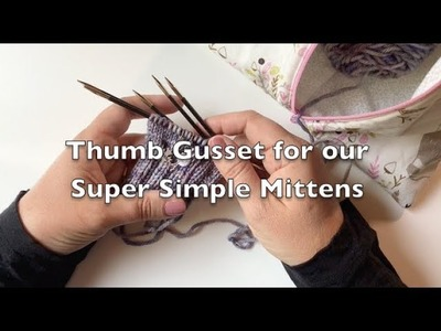 Let's Teach Gerald How to Knit Mittens - Thumb Gusset increases and the E Wrap cast on