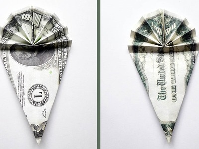 Money ICE CREAM Origami Dollar Tutorial DIY (NProkuda)