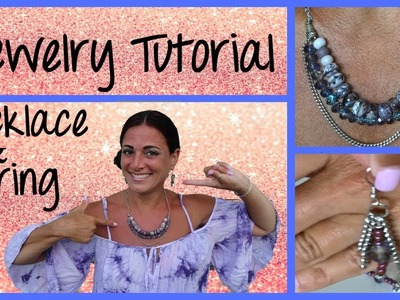 Necklace and Earing Tutorial.  DIY your own jewelry with me.