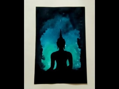 Step by Step Lord Buddha Painting in Watercolor, Buddha Painting Tutorial, (DIY) Buddha Wall Decor