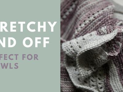 Stretchy Shawl Bind Off - How to do a shawl bind off