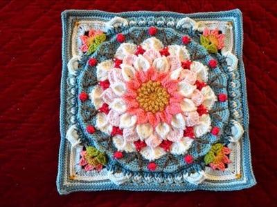 Top 10 crochet granny square con flores y colores tejidos a mano con ganchillo