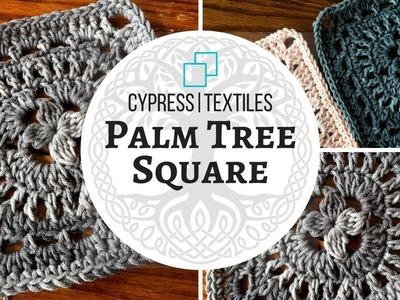 VVCAL 2018 Reboot Week 9 Crochet Motif: Palm Tree Square