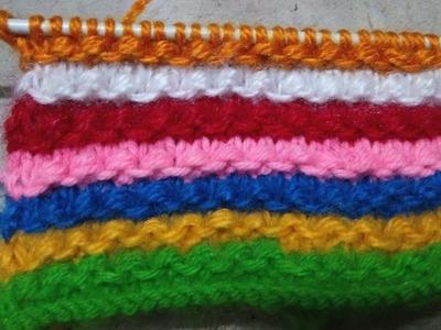 97 * Knitting multicolour design very easy