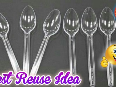 Best Out Of Waste|How To Reuse Waste Plastic Spoons|How To Reuse Plastic Spoons & Wool|Amazing Idea