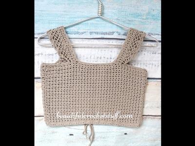Crochet Crop Top Forever 21 Style - II Part