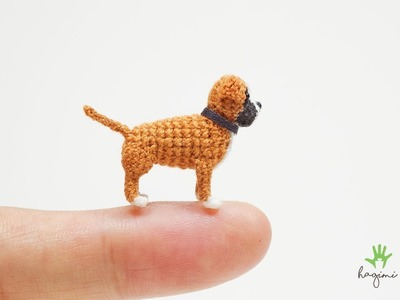 CUTE CROCHET FAWN BOXER DOG - MADE TO ORDER - HAGIMI
