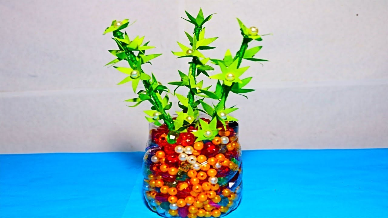 Diy How To Make A Flower Pot With Flower Diy Paper Craft