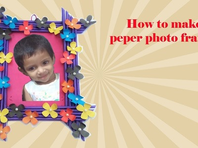 DIY: Make a wonderful paper photoframe at home by easy way