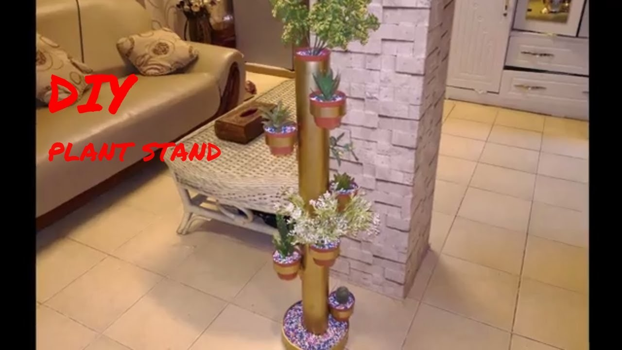 Diy Plant Stand. How to make plant stand With Pvc Pipe. PVC Pipe Craft