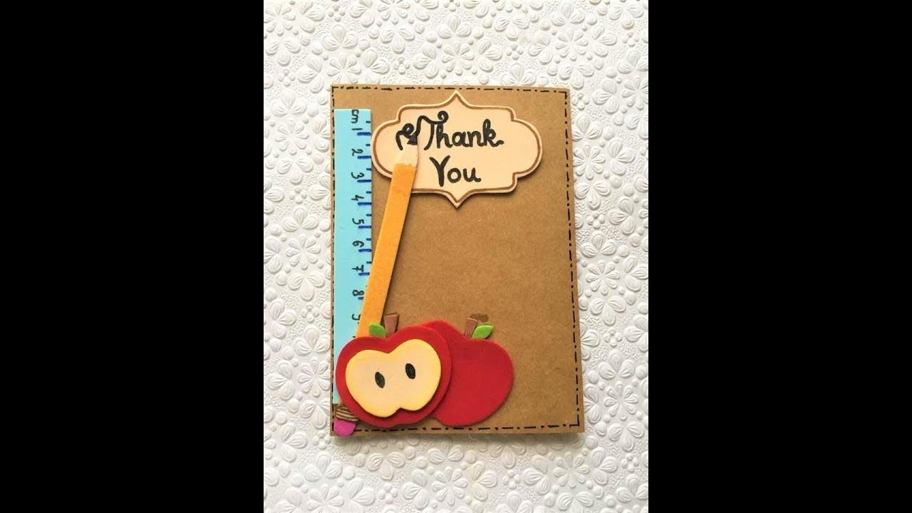 Diy Teachers Thank You Card Teacher Appreciation Card Making Tutorial