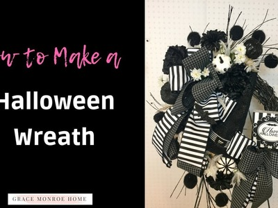 Halloween Wreath Tutorial - How to Make a Halloween Grapevine Wreath