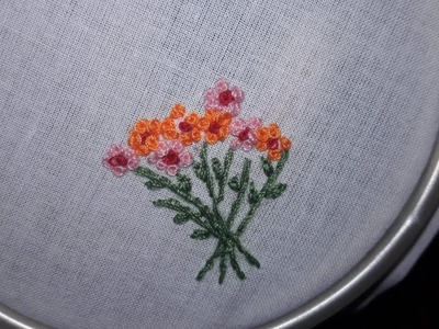 HAND EMBROIDERY HANDKERCHIEF PATTERN 11