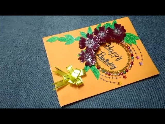 Happy birthday card|Birthday Cards|How to make greeting card