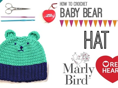 How to Crochet Bear Hat with ears [Left Handed]