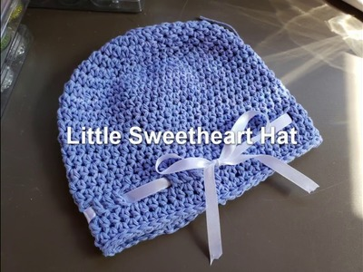 How to crochet Red Heart Little Sweetheart Hat LW5502- She-shed Saturday