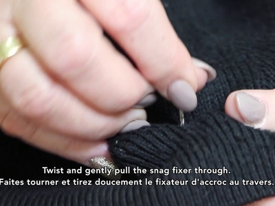 how to fix a snag in fabric