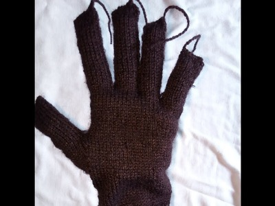 How to knit gloves for gents | Gloves making| Gloves design |knitting Gloves