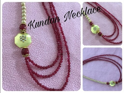 How to make 3 strand beaded necklace