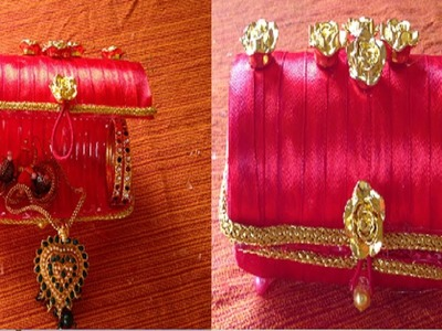 How to make a beautiful jewelry holder.organizer out of waste biscuit plastic wrapper material