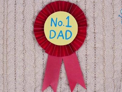 How to Make a No.1 DAD Rosette Badge