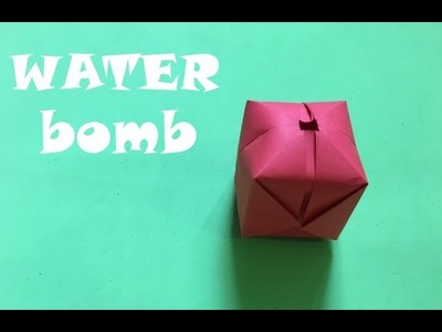 How To Make a Paper Balloon. Water Bomb. Origami