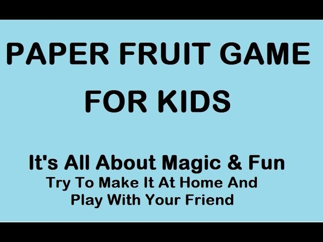 How To Make A Paper Game : Easy Magic Paper Game For Kids