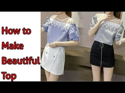 How to make  beautiful top for collage girl in hindi | w2w boutique