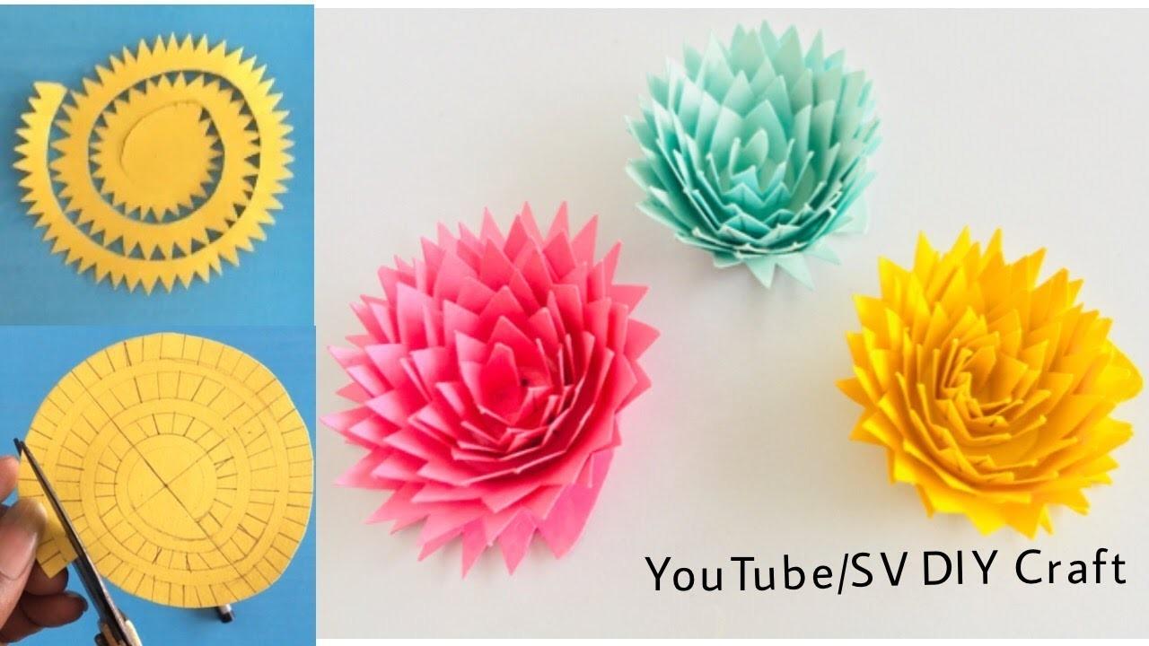 How To Make Cricut 3d Paper Flower 3d Paper Flower Using Color