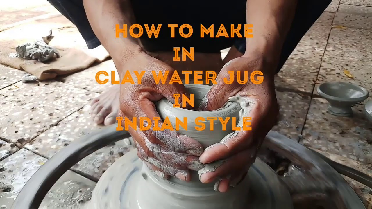 How to make in clay water jug in Indian style part 1